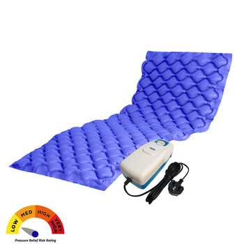 Alerta Bubble2 Pressure Relief Air Bubble Mattress Overlay with Pump