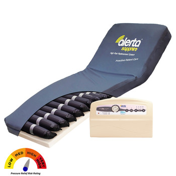 Alerta Sapphire High Risk Dynamic Air Mattress System With Foam Base