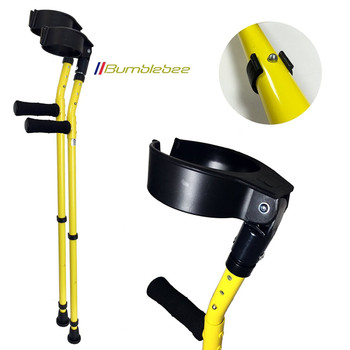 Vilgo Soft Grip Closed Cuff Double Adjustable Colourful Crutches