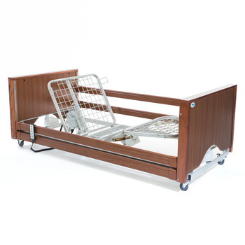 The Encore Classic Low Walnut Electric Profiling Hospital / Care Bed