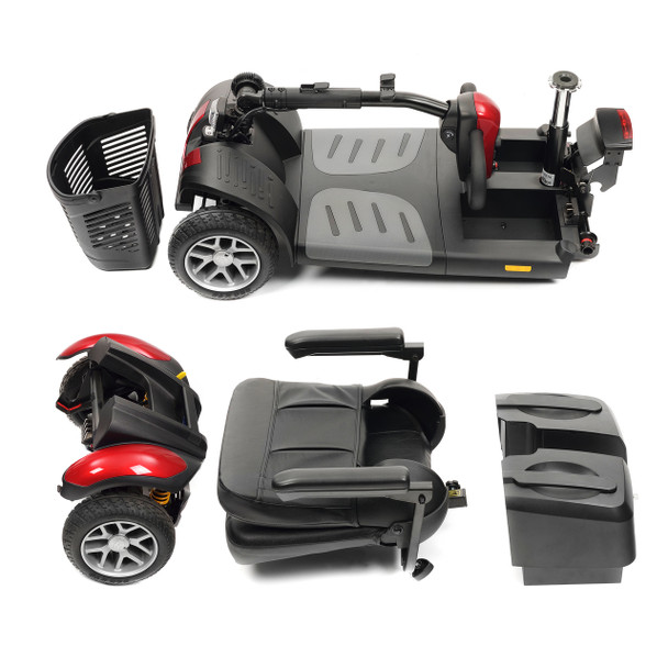 TGA Zest Plus Full Suspension 4mph Boot Scooter