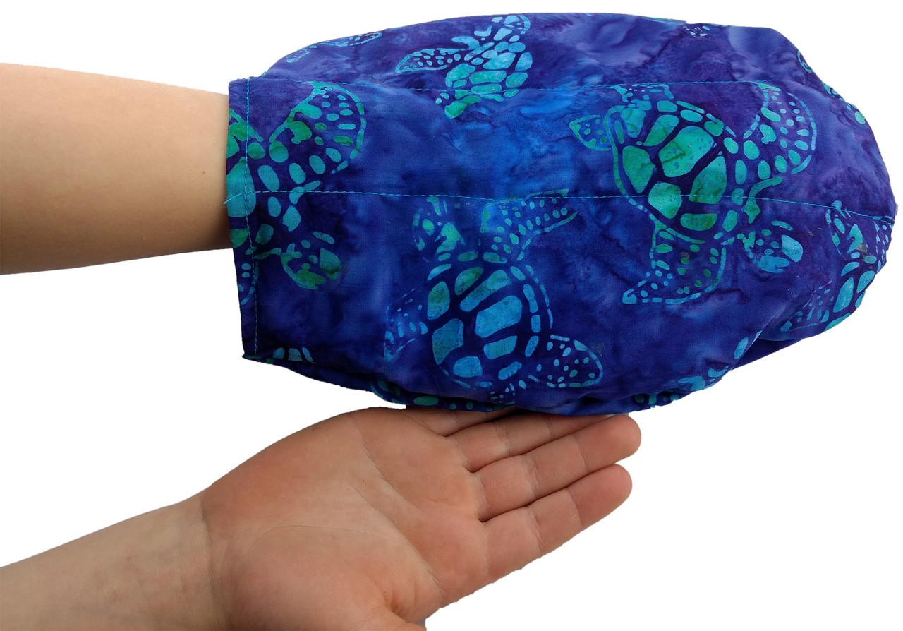 Hand Mitt - Batik Turtle Fabric