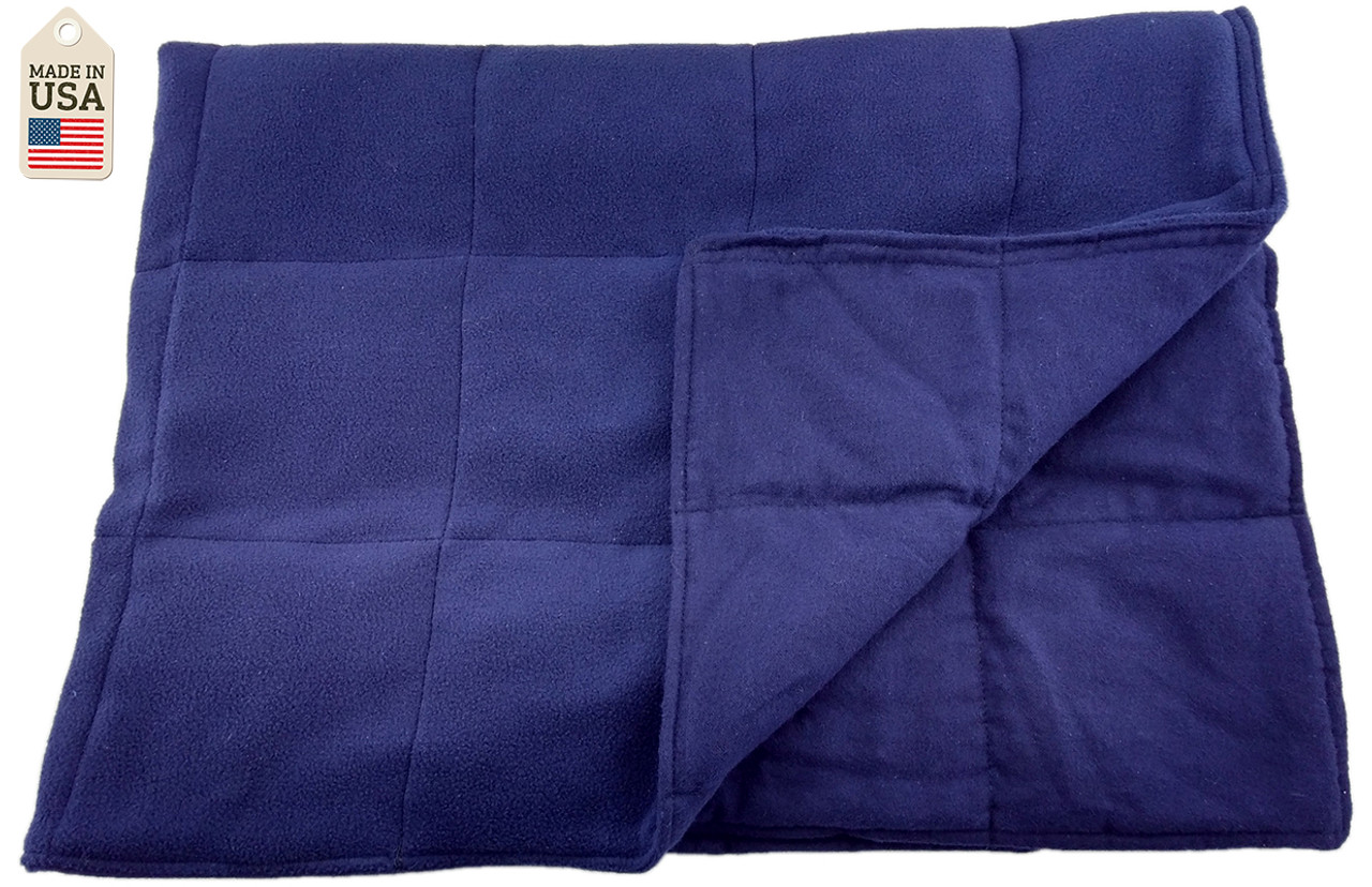 Navy 10 or 15 LB Weighted Washable Body Blanket - On Sale