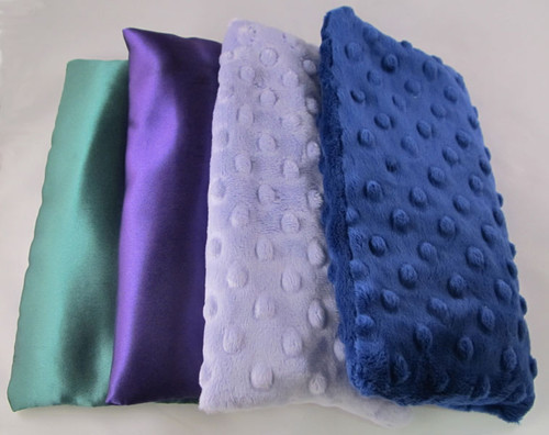 Sleepy Time Pillows - Available in Green Satin, Purple Satin, Purple Oh-So-Soft Dot, or Navy Oh-So-Soft Dot.