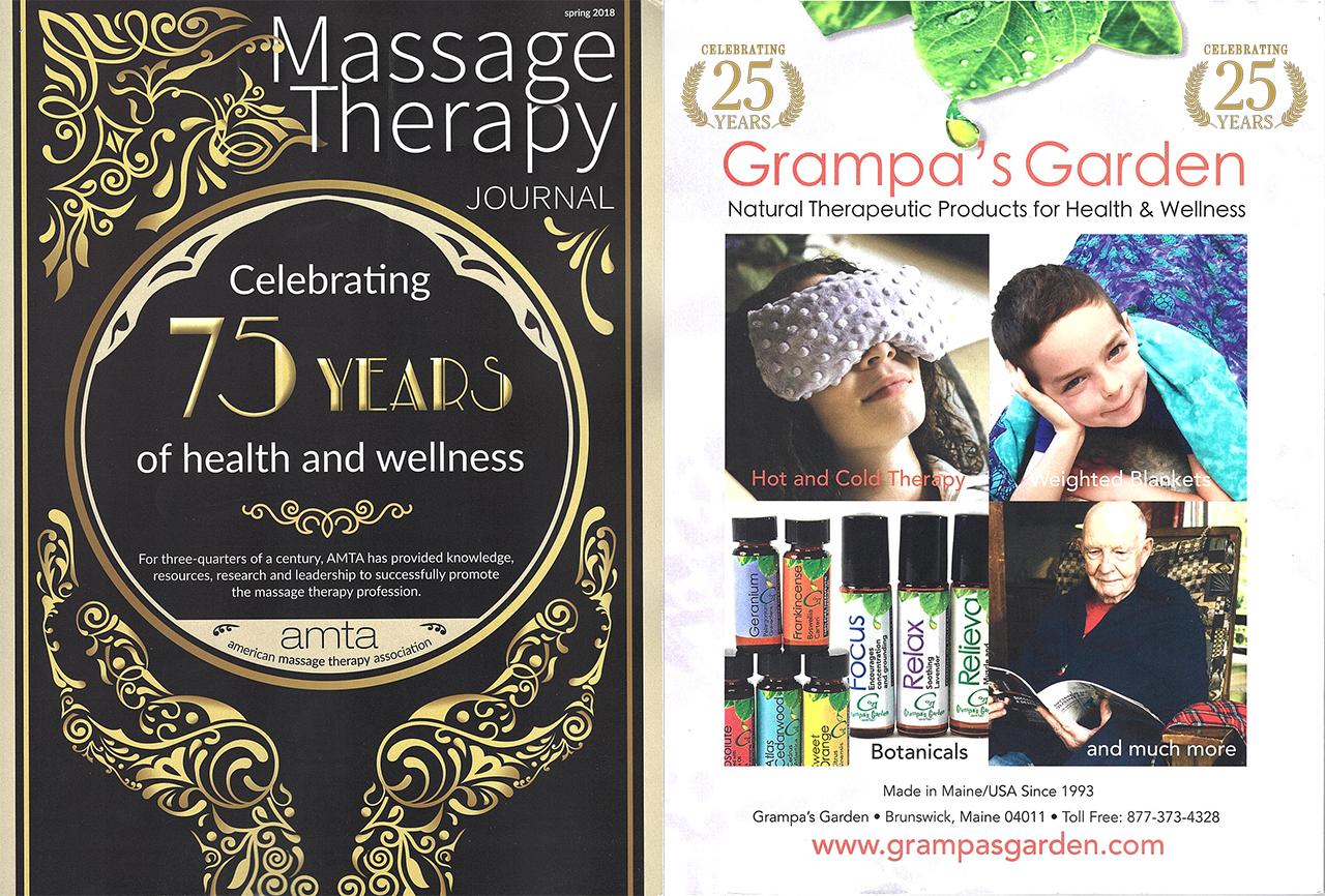 Grampa's Garden Featured in Massage Therapy Journal