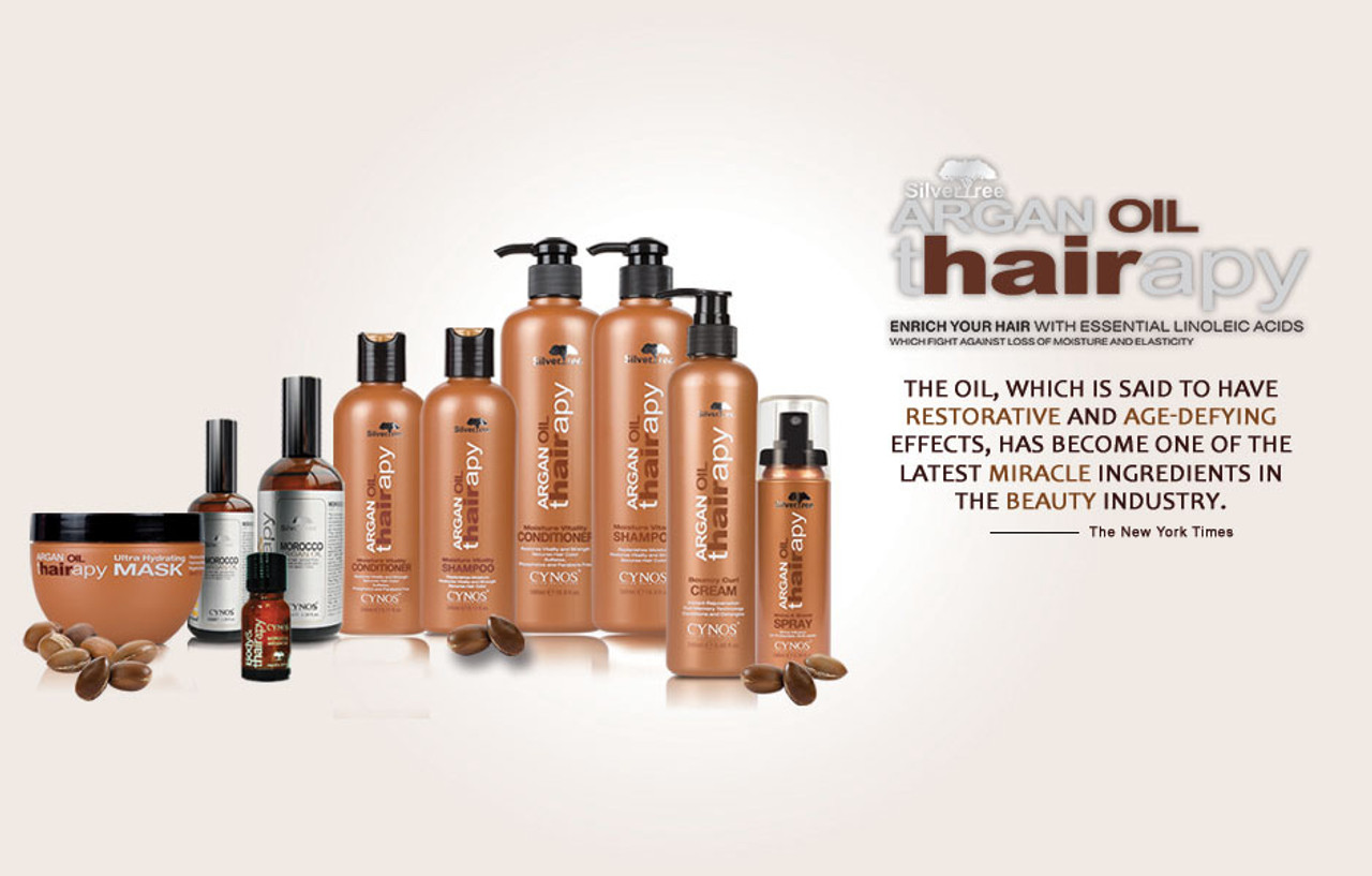 Get that Look with Argan Thairapy A New Revolutionized hair care line. Your hair will rejoice as Argan Oil based product penetrates deep into the hair fibers to hydrate without weight or residue.