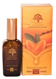 Naturally and effectively moisturizes, repairs and adds shine to all hair types.  Directions: Arganmidas Moroccan Argan Oil is a unique serum with instant absorption into hair and skin to create a beautiful shine and long term conditioning. High in vitamin E and essential fatty acids, can be instantly absorbed into the hair and skin, and  provide anti-oxidant to the hair and skin. Protects against UV damage and other environmental factors.   Hair: A)After shampooing and conditioning, start with a small amount in the palm of your hands and work it through damp hair. Style as usual. Apply a few drops as often as needed to achieve soft, shiny hair.  B)Before applying color, massage approximately 5ml of Arganmidas Moroccan Argan Oil to hair. This will enhance the hairs ability to absorb the color. Do not rinse hair before applying color or bleach. Add 4 to 5ml of Arganmidas Moroccan Argan Oil to color mix and continue normal color application and process.  Body: Warm the oil in your hands and massage your body 2~3 times a week. The skin will be hydrated and become smoother and softer after use.