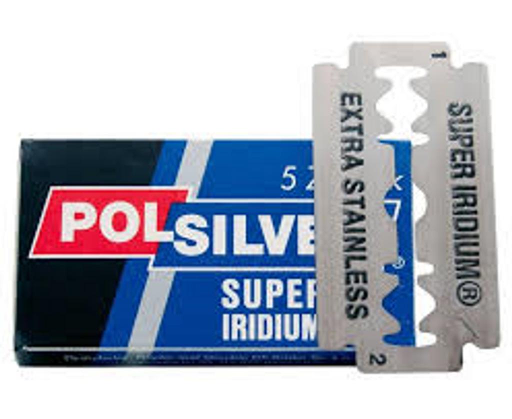 Polsilver 'Super Iridium' Double Edge Safety Razor Blades | Agent Shave