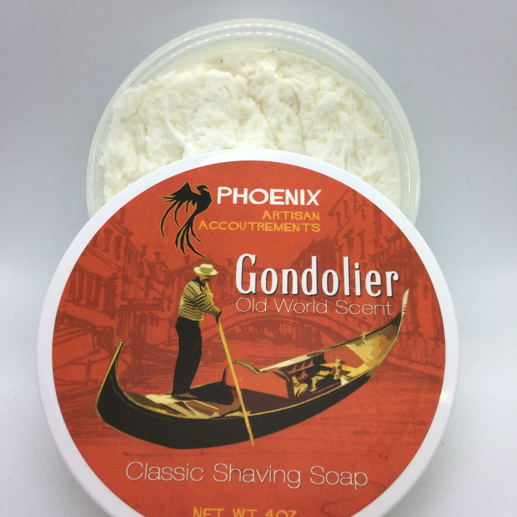 Phoenix Artisan Accoutrements - Gondolier Old World Scent Shaving Soap 4oz | Agent Shave