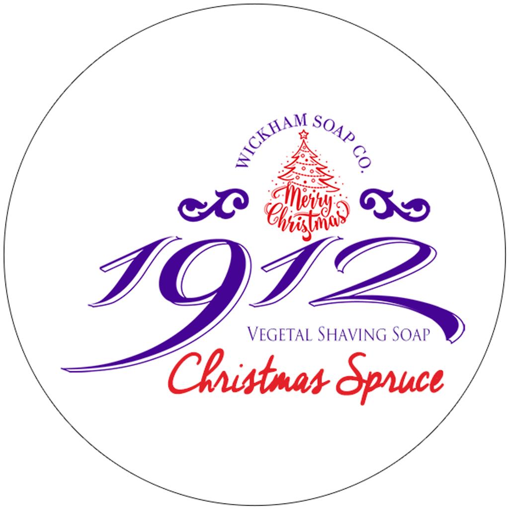 Wickham Soap Co 1912 Christmas Spruce Shaving Soap | Agent Shave