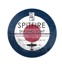 Phoenix and Beau - Spitfire Shaving Soap | Leather, Juniper, Tobacco | 130g |Agent Shave | Traditional Wet Shaving