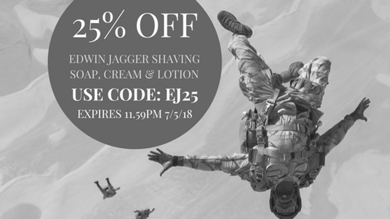 25% off selected Edwin Jagger