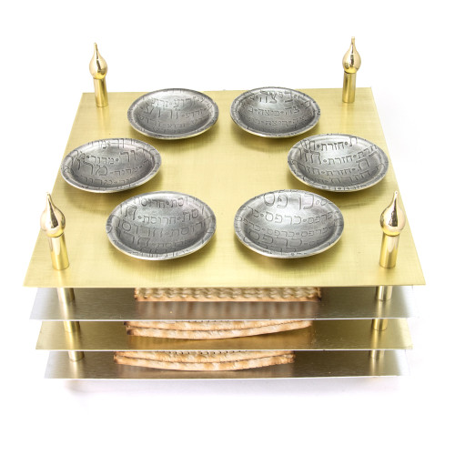 Tiered Passover Seder Plate with Round Cups