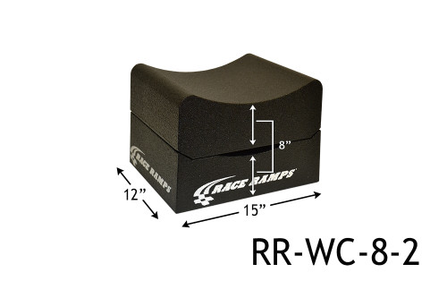 "Shop for your Race Ramps 8"" of Lift Wheel Cribs Adjustable 4""+4"" Stacked - 15""L x 12""W (Set of 2) RR-WC-8-2 and add a coupon in your shopping cart to save even more before you check out with Just Bolt-Ons."