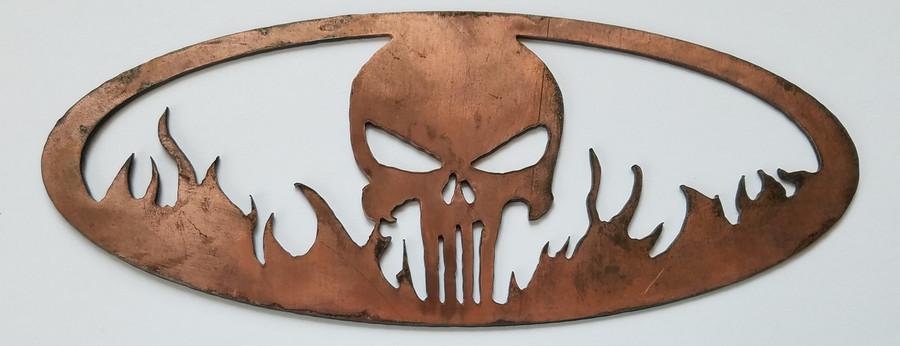 BBQ Bling Punisher Skull