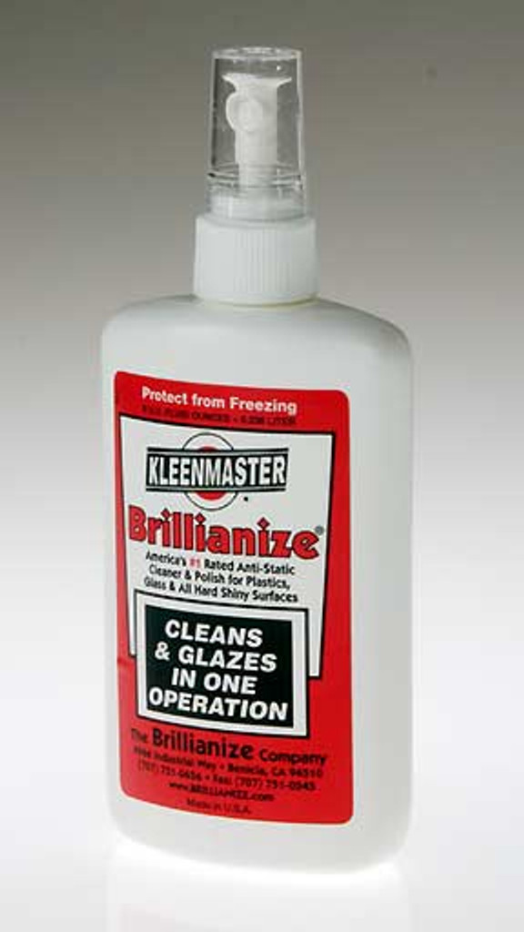 Spray cleaner for acrylic displays.