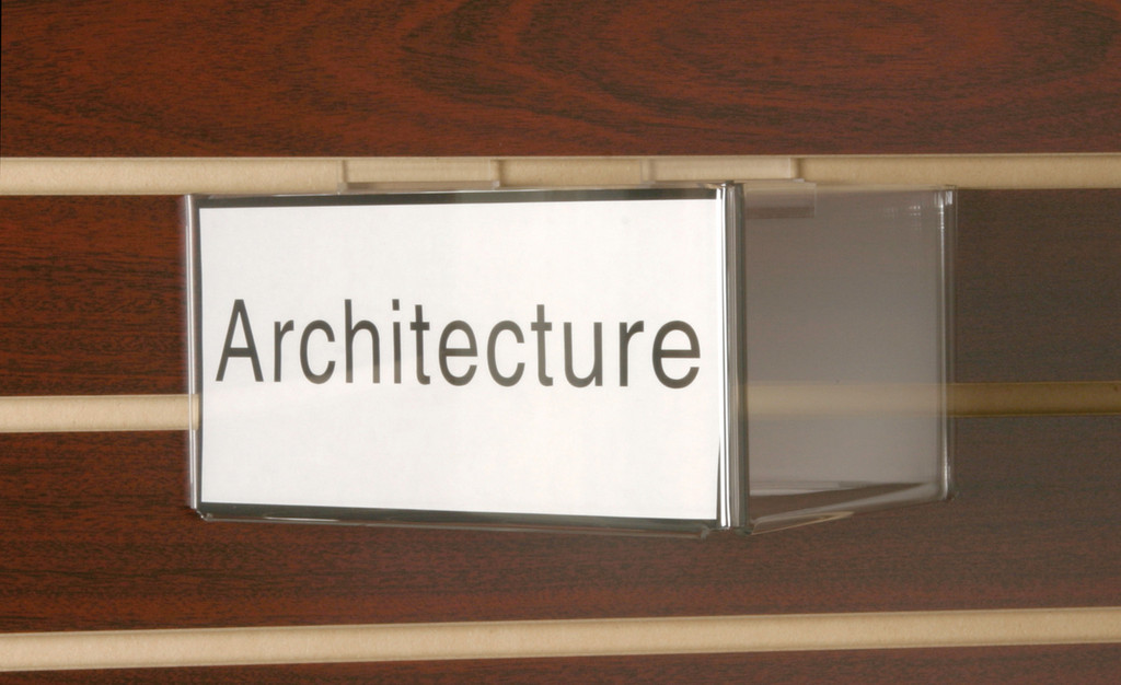 Small sign for retail and library displays.