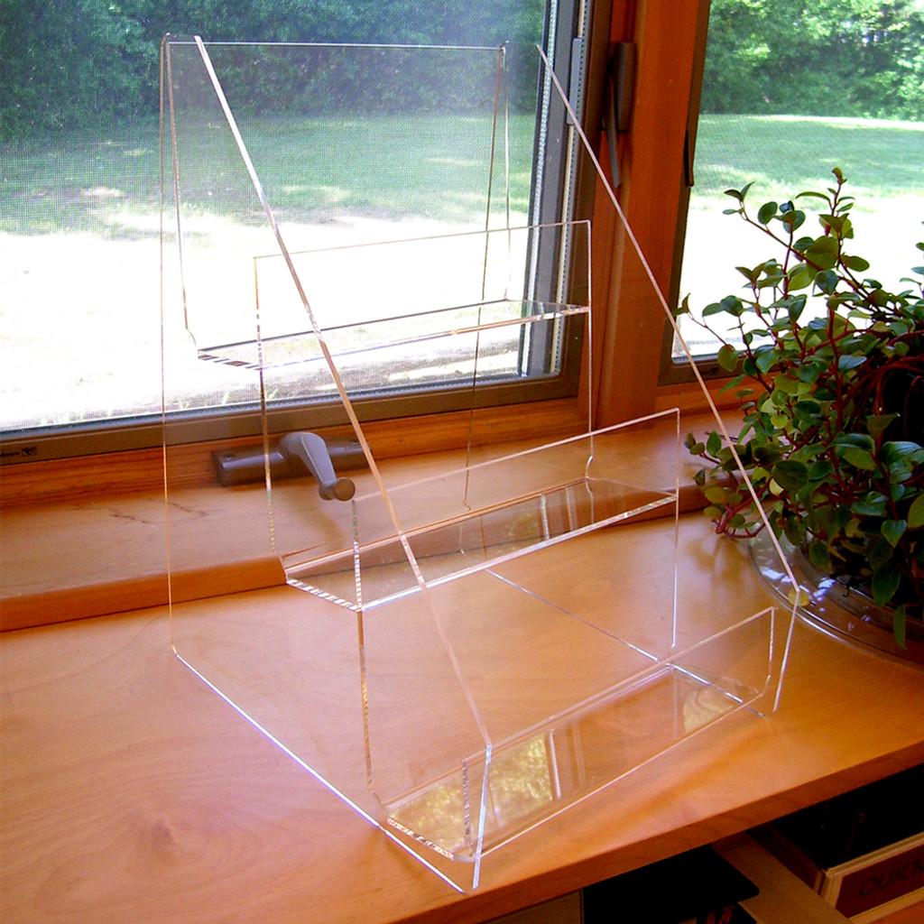 "9"" Wide Three Tier Clear Acrylic Countertop Display"