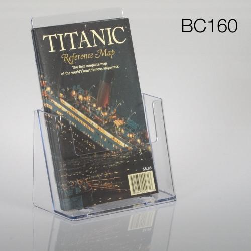 clear half-sheet sized countertop brochure holder