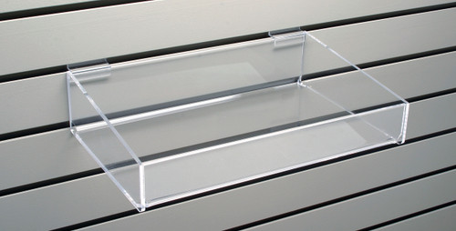 slatwall shelves for books cards calendars and dvds from clear rh cleardisplays com clear acrylic shelves for slatwall - 14 x 10 acrylic shoe shelf for slatwall