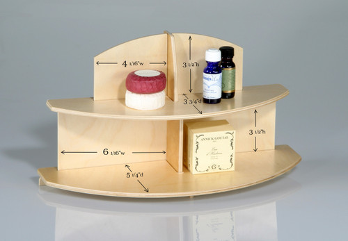 Two Tier Birch Display Stand (4292)