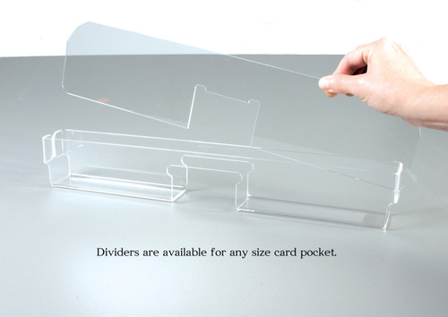 Dividers are available for any size pocket.
