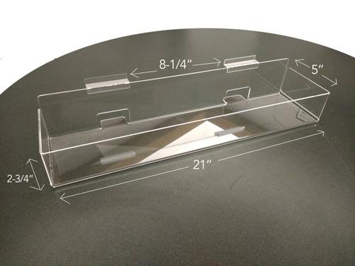"Clear Solutions Slatwall Bin - BAck Aisle Special. 21"" length"