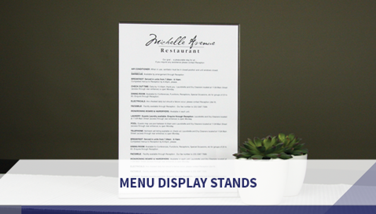 Menu Display Stands