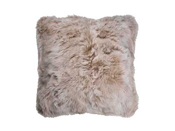 Faux Fur Printed Cushion 43cm