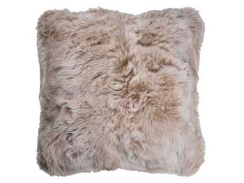Faux Fur Printed Cushion 55cm