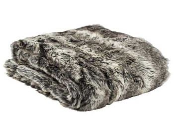 Faux Fur Printed Throw
