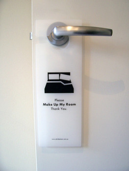 White Trans Poly Door Sign