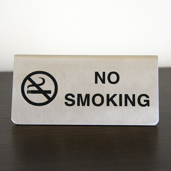 No Smoking A-Frame SS Sign