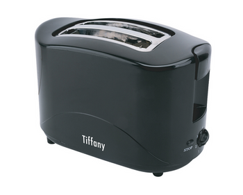Tiffany 2 Slice Cool Touch Toaster Black