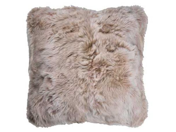 Faux Fur Printed Cushion 55cm