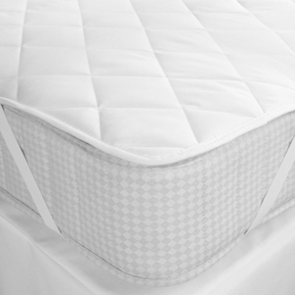 White Valley Strap Fit Quilted Mattress Protector