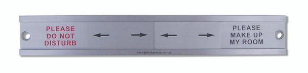 Secured Stainless Steel Door Sign
