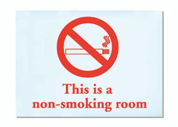 No Smoking Adhesive Sign