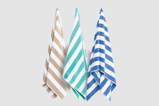 Oasis Stripe Pool Towel
