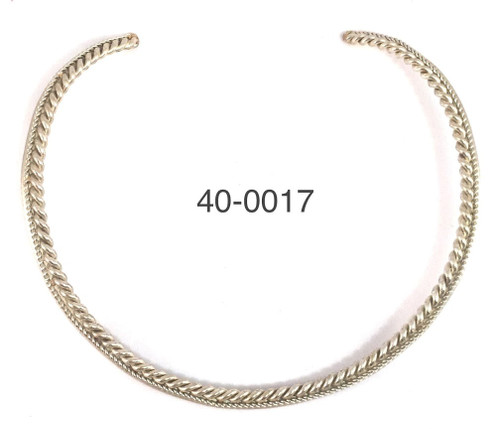 Silver Round Rope Wire Collar