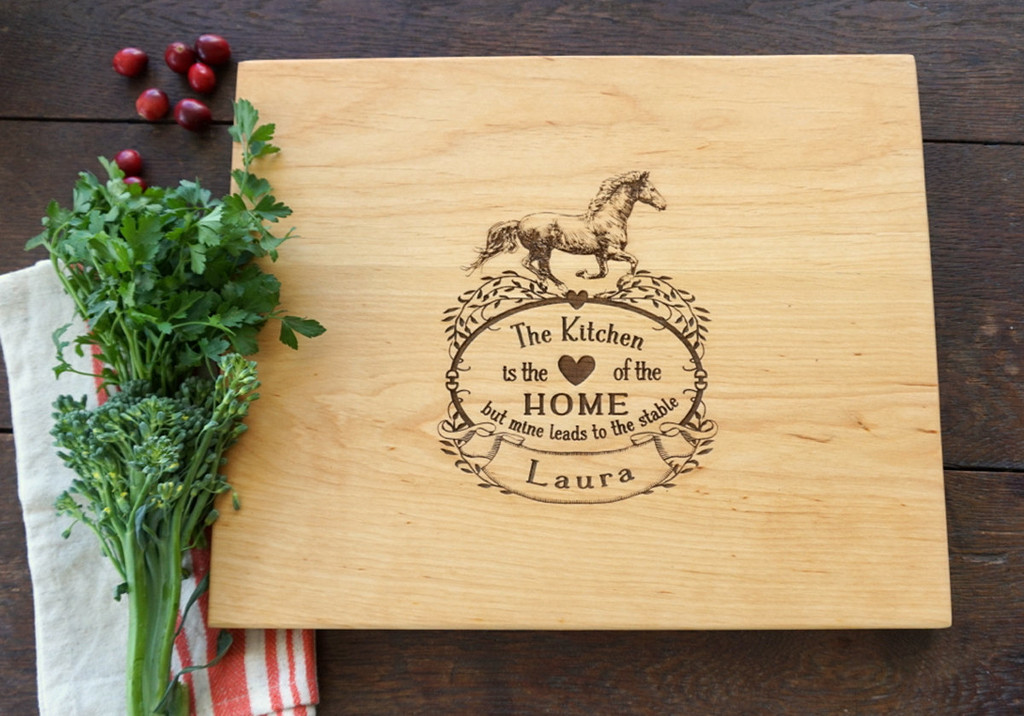 Horse Lovers cutting board by TheCuttingBoardShop