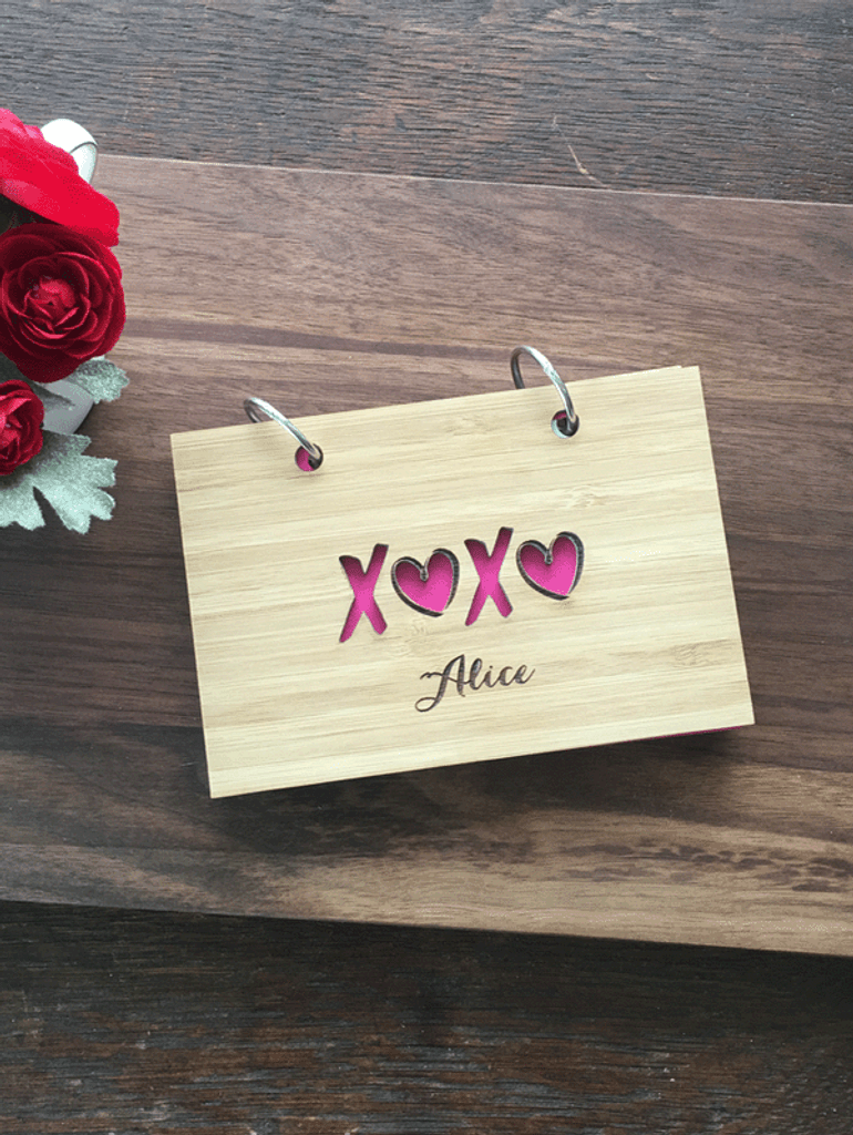 XOXO Notebook or recipe book by TheCuttingBoardShop