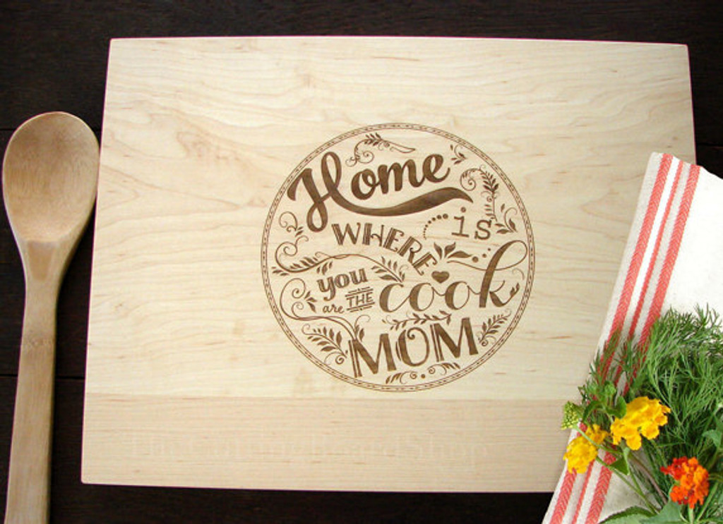 Home cook Mom cutting board by TheCuttingBoardShop