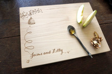 Beekeeper's cutting or cheese board by TheCuttingBoardShop