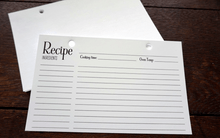 Recipe card  for our recipe book by TheCuttingBoardShop