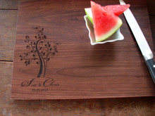 Whimsy personalized cutting board from TheCuttingBoardShop