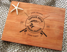 Fishing Captain cutting board by TheCuttingBoardShop