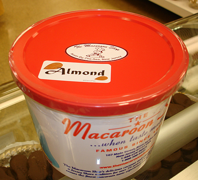 Gourmet Chocolate-covered Almond Macaroons 1 lb Tub  - Ready to be shipped fresh to your door!