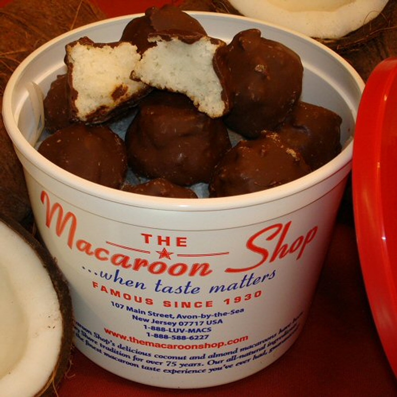 Gourmet Chocolate-Covered Coconut Macaroons 1 lb Tub - Perfect gift!