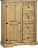 Corona 1 Door 4 Drawer Low Wardrobe